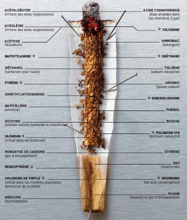 La fumée de tabac est un aérosol, c'est-à-dire un mélange de gaz et de particules